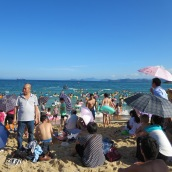 Typical beach in China