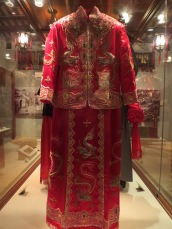 Traditional wedding dress.