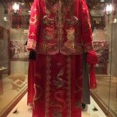Traditional wedding dress.