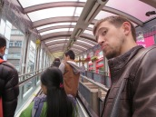 Such a long escalator.