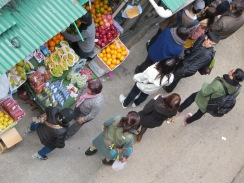 Hong Kong fruit vendor.