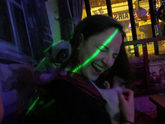 Adrianna loves kitties.