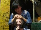 Winny really liked Adrianna's hair.