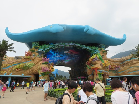 A giant manta ray entrance? Yes!