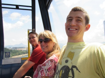 We rode the cable car to the big Buddha