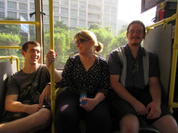 We took a bus into town, giving Susan and Sutton a whole new look at Chinese transportation