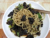 "Adrianna's favorite noodle dish: Muslim hand-pulled noodles with ""tree ear"" black mushrooms"